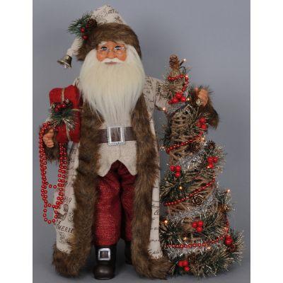 Lighted Woodland Elegance Santa