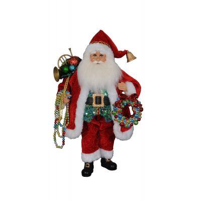 Beads with Wreath Santa