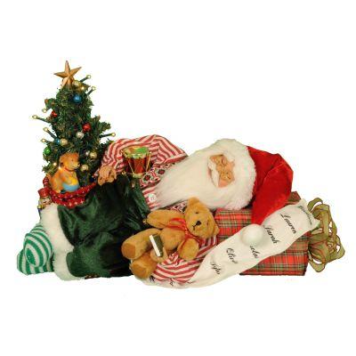 Lighted Napping Santa