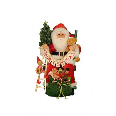 Lighted Christmas Eve Santa