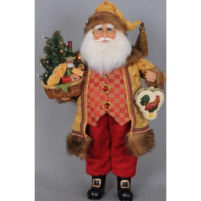 Lighted Tuscan Cuisine Santa