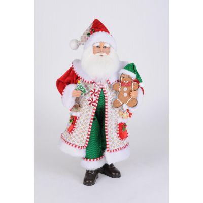 Whimsical Gingerbread Santa