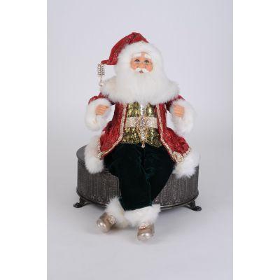 Fancy Traditional Posable Santa