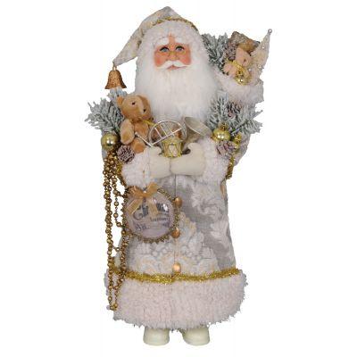 Cream Chrtms Greetings Santa