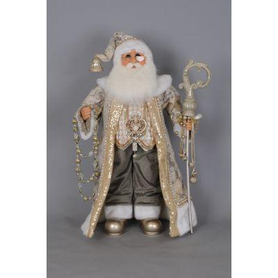 Cream and Gold Santa