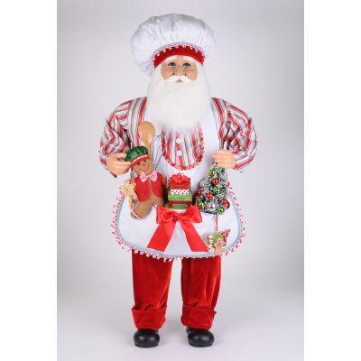 Baking Up Goodies Santa