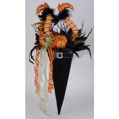 Elegant Witch Hat Wall/Door Hanger