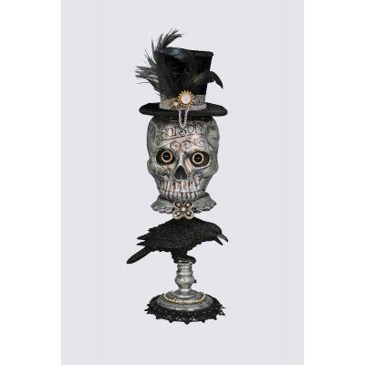 Silver Skull Pedestal