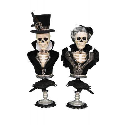 Winston & Victoria Skeleton Pedestals