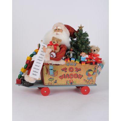 Lighted Toy Wagon Santa