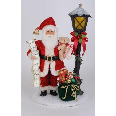 Lighted Christmas Streetlight Santa