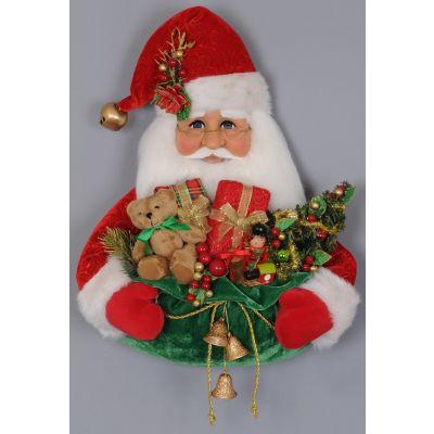 Santa Head w/ Gift Bag