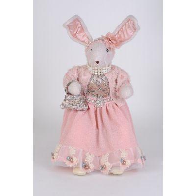 Pink Sitting Bunny