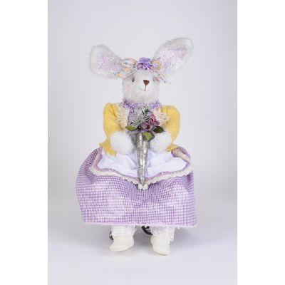 Purple Sitting Bunny