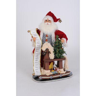 Santa with Rocking Horse on Base