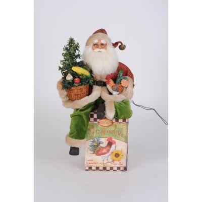 Lighted Harvest Santa